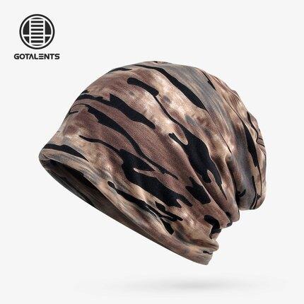 化療帽 迷彩套頭帽圍脖兩用春夏季男女款棉質戶外運動騎行防風包頭巾帽『LM610』
