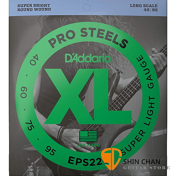 【缺貨】美國 DAddario EPS220 PROST貝斯弦 (45-95) 【bass弦專賣店 EPS-220】