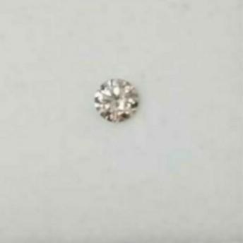 ダイヤモンド ライトピンクブラウン 天然 0,130ct sorting付き