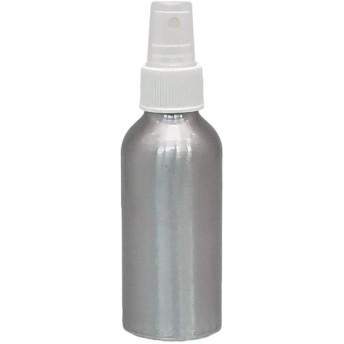 スプレーボトル 120ml 霧化空のボトル区画ボトルアルミニウム容器 収納旅行サプリメントボトル 5ピースセット 白いノズル