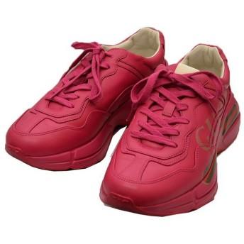 GUCCI Rhyton サイドロゴ スニーカー ピンク サイズ:5 (二子玉川店) 200308