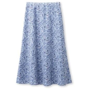 INDIVI(インディヴィ)[S]【マシンウォッシュ】アソートプリントロングスカート