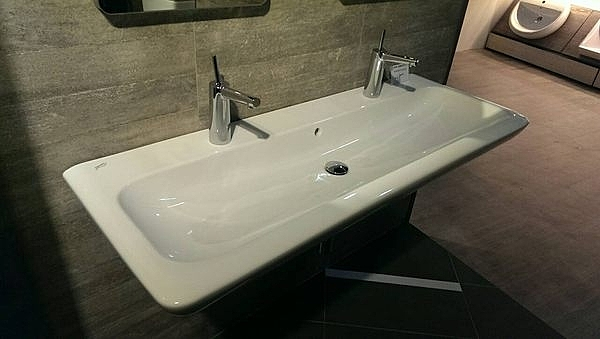 【麗室衛浴】德國 KERAMAG 一體造型面盆 130*48CM 121935