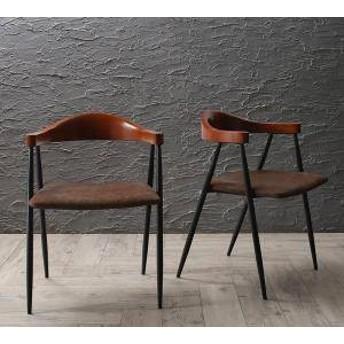 ダイニングチェア 2脚 椅子 おしゃれ 北欧 安い アンティーク 木製 シンプル ( 食卓椅子 2脚 )