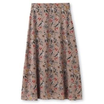 UNTITLED/FAIRY SHADE(アンタイトル/フェアリーシェード)【洗える】オリエンタルフラワーロングスカート