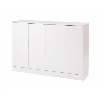 日本製 キッチンストッカー 低め Face カウンター下 キッチン収納 収納家具 扉幅112 ホワイト白 国産 代引不可