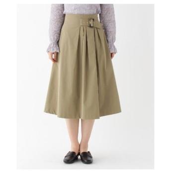 AG by aquagirl(エージー バイ アクアガール)【洗える/Lサイズあり】ベルト付きアシンメトリーフレアスカート