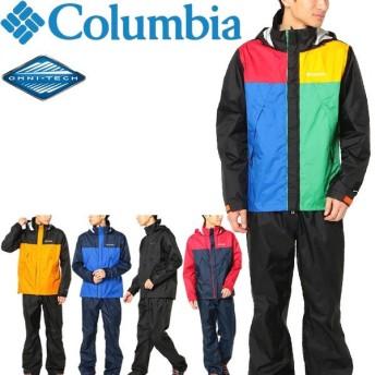 レインスーツ メンズ レインウェア コロンビア Columbia シンプソンサンクチュアリー2/防水 ジャケット ロングパンツ 上下セット/PM0126
