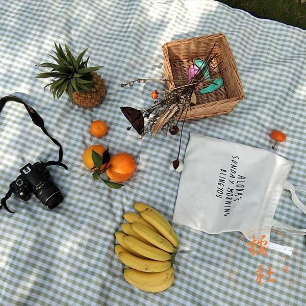 野餐墊防潮墊戶外郊游防水便攜草坪墊子日式野餐布【橘社小鎮】