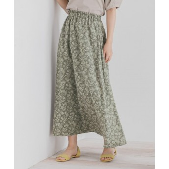 SENSE OF PLACE(センスオブプレイス) スカート スカート フラワープリントロングフレアスカート【送料無料】