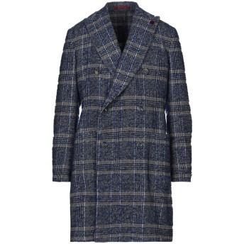 《セール開催中》GIACCHE' メンズ コート ブルー 54 ウール 60% / ポリエステル 15% / 毛(アルパカ) 11% / ナイロン 8% / 紡績繊維 6%