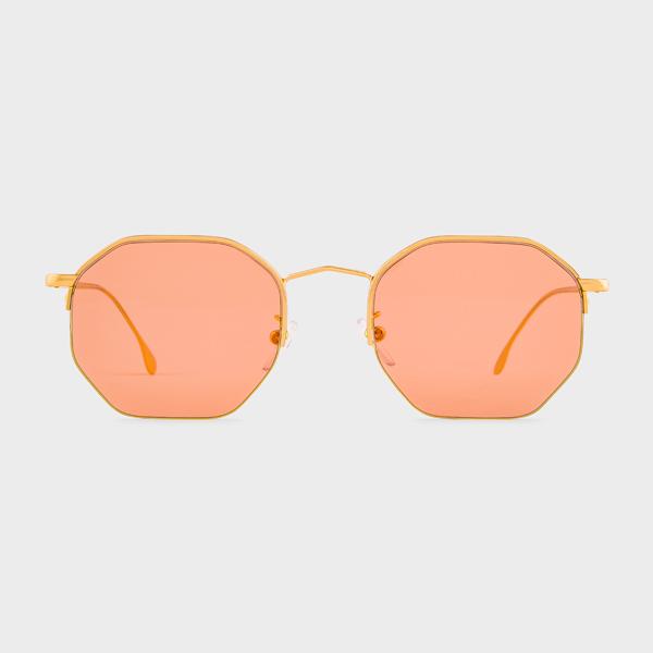 Paul Smith Gold 'Brompton' Sunglasses