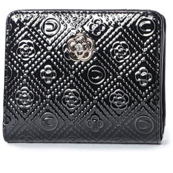 クレイサス CLATHAS ミモザ Lファスナー2つ折り財布 (ブラック)