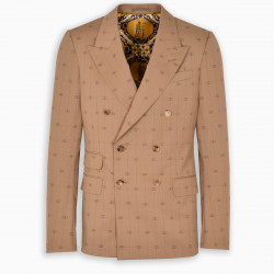 Gucci Beige interlocking G stripe jacket