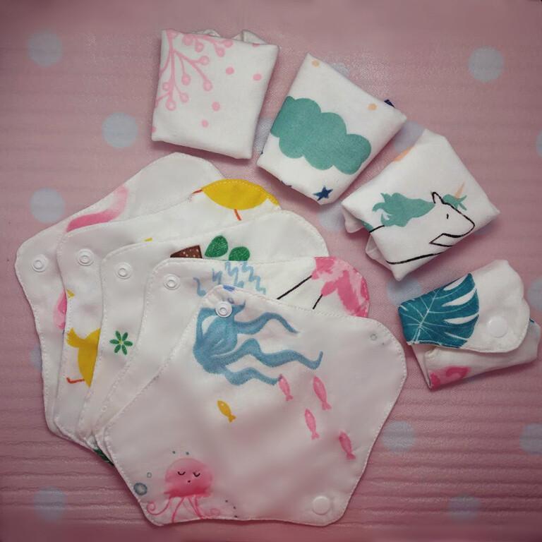 lohogo 紗布巾衛生護墊/環保可洗護墊/布護墊 環保可重覆使用