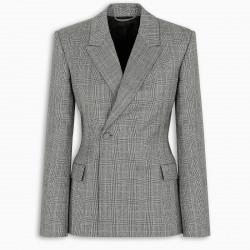 Balenciaga Single breasted checked blazer