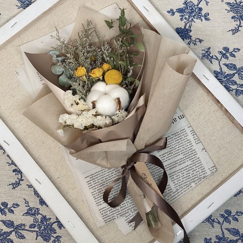 晞韓系乾燥花束情人節花束 閨蜜禮物 乾燥花 - 圖片色