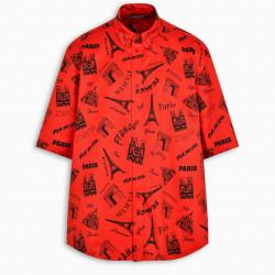 Balenciaga Red Tourist shirt