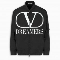 Valentino V Logo Dreamers bomber jacket