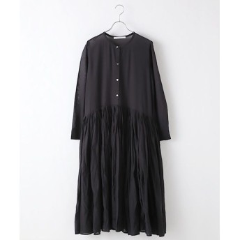 MARcourt/マーコート band collar tucke flare OP black FREE
