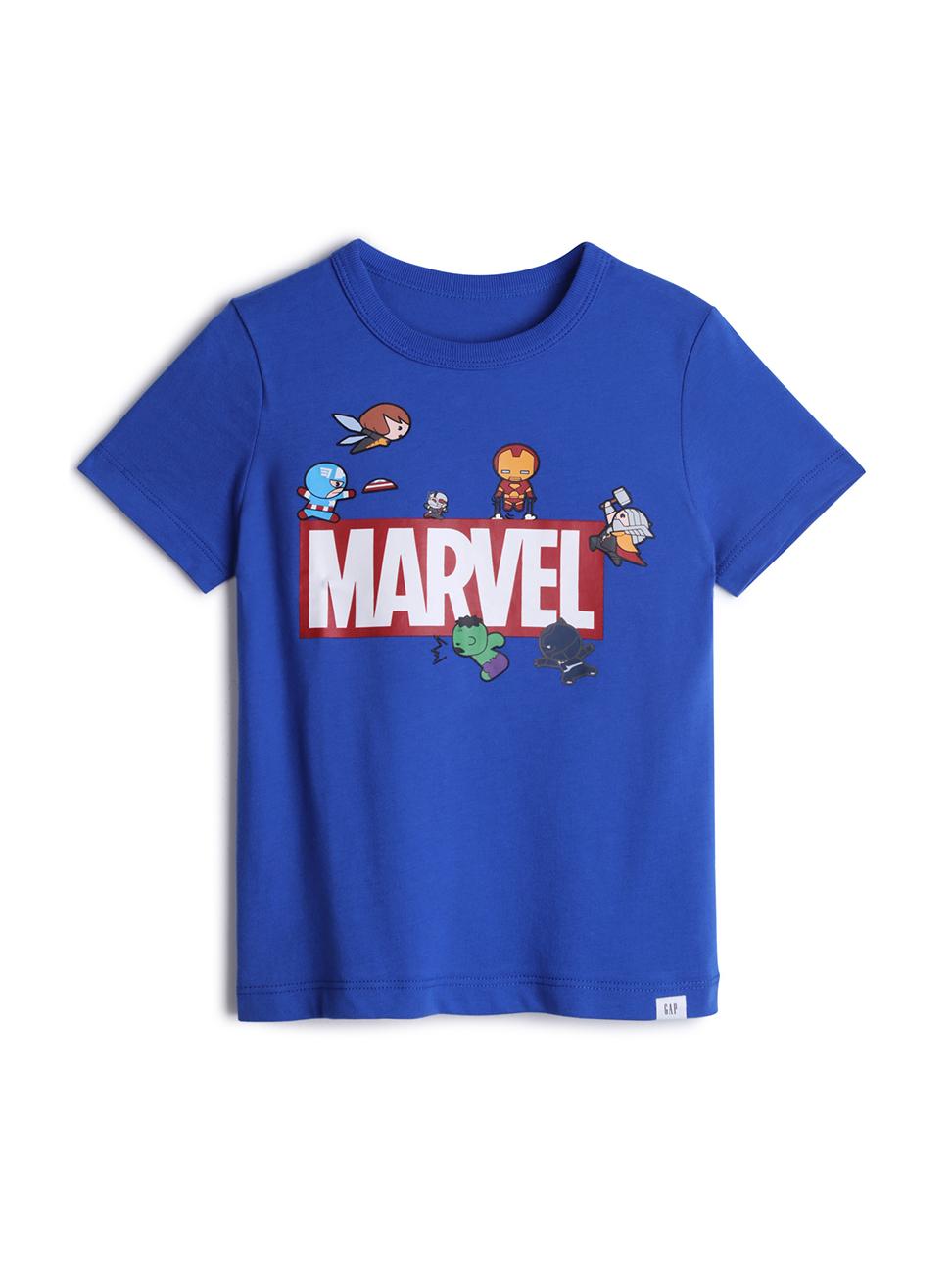 幼童 Gap x Marvel 漫威系列棉質舒適圓領短袖T恤