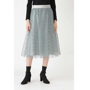 【JILL STUART:スカート】◆《Endy ROBE》マリースターチュールスカート
