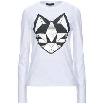 《セール開催中》FRANKIE MORELLO レディース T シャツ ホワイト XS コットン 98% / ポリウレタン 2%