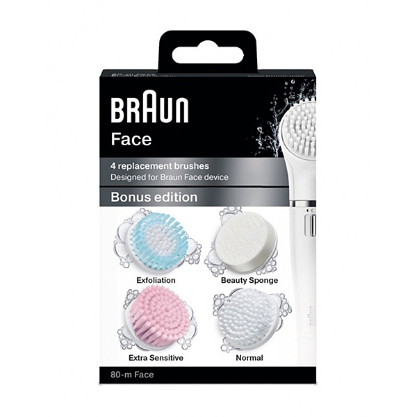 德國百靈BRAUN-Face刷頭組合包(4入一盒)SE80-m