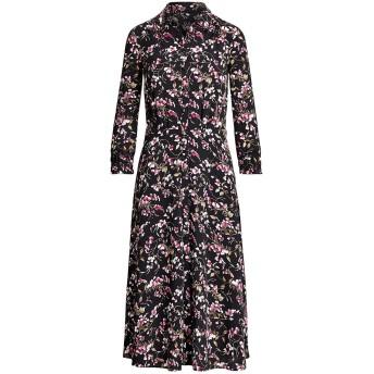 《セール開催中》LAUREN RALPH LAUREN レディース 7分丈ワンピース・ドレス ブラック 2 ポリエステル 97% / ポリウレタン 3% FLORAL CREPE DRESS