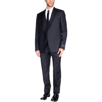 《セール開催中》PAL ZILERI メンズ スーツ ブラック 56 ウール 100%