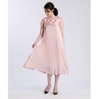 ef-de/エフデ 《M Maglie le cassetto》ドッキングプリーツドレス ピンク1 07