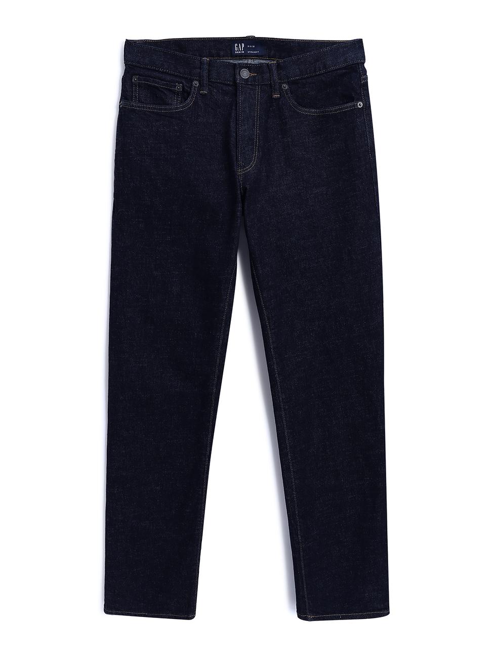 男裝 時尚純色直筒牛仔褲