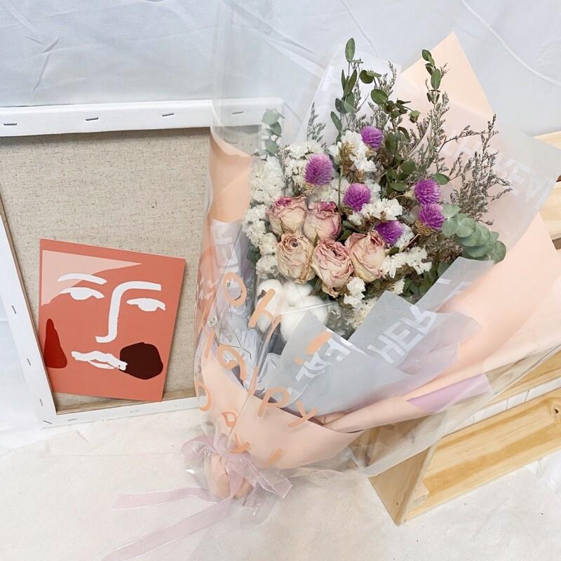 晞愛的宣言 英文字包裝花束 情人節花束 畢業花束 禮物 - 圖片色