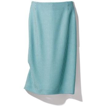 Faliero Sarti/ファリエロ サルティ からみ織り スカートターコイズ61