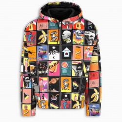 Prada Cotton chino jacket with print