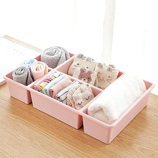 簡約多功能收納盒 桌面 分格 化妝品 塑料 多格抽屜 整理盒  收納 置物【N416】慢思行