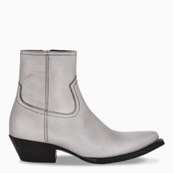 Saint Laurent Silver Lukas ankle boots
