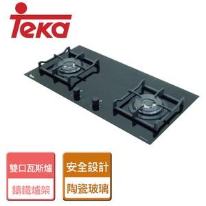 【TEKA】玻璃雙口瓦斯爐-LUX-78-天然