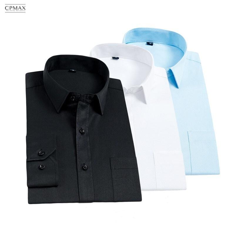 cpmax 精製方領 男款斜紋長袖襯衫   長袖襯衫 方領襯衫 b38