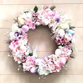 No. wreath-15160/イースターリース20-(12)42cm イースターバニー/アーティフィシャルフラワー造花
