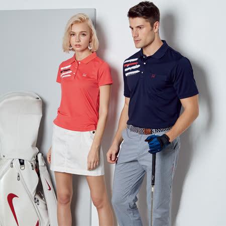 Abel Fox's Sports橘底油漆風女版短袖polo衫-F5202A-01