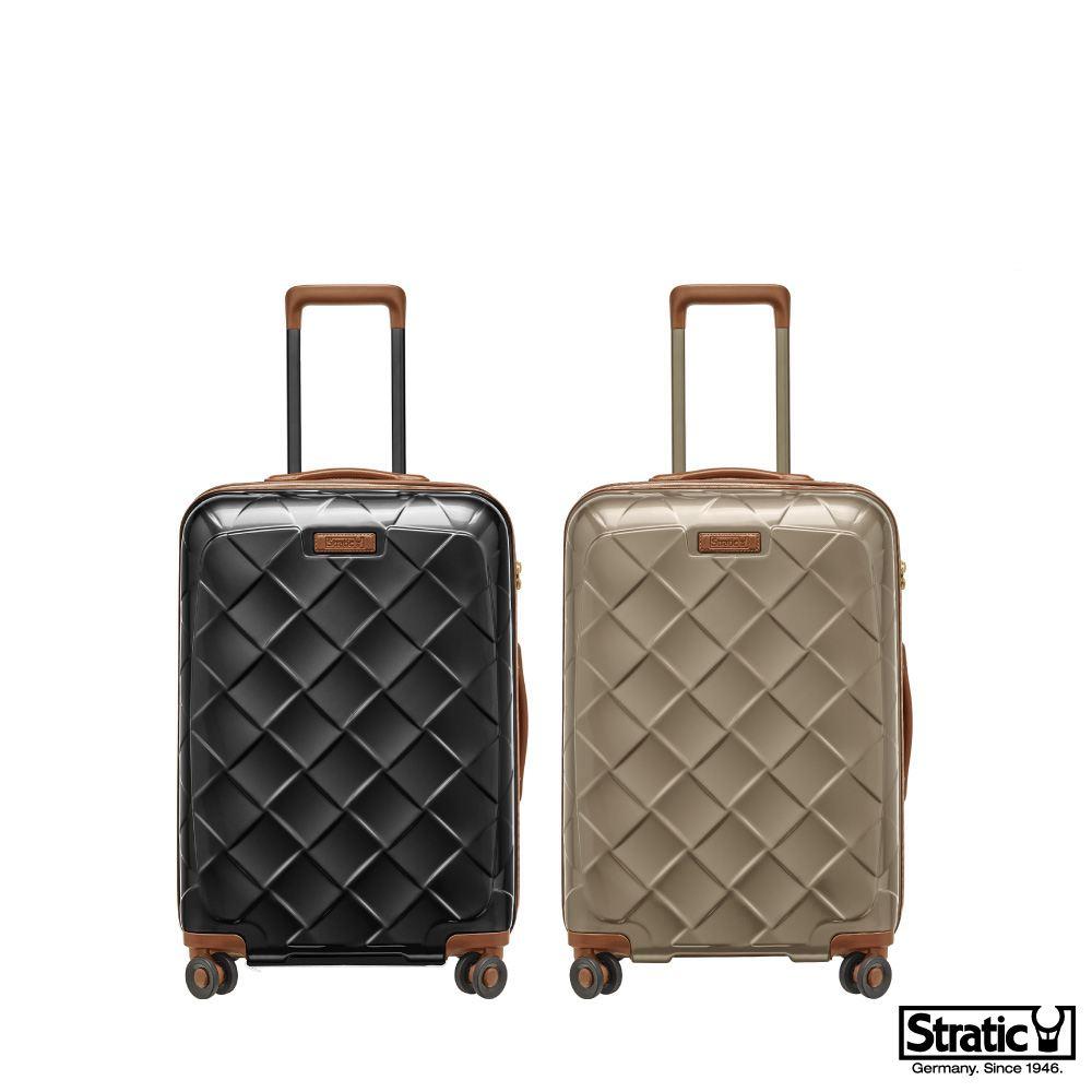 《Traveler Station》德國拜耳高品質PC Stratic 3-9894 Leather & More 25~26吋 拉鍊硬殼旅行箱