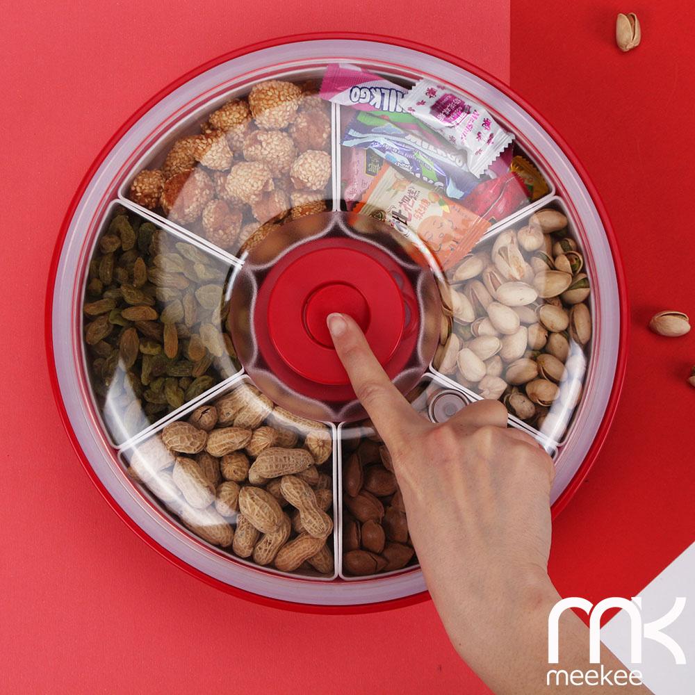meekee 神鮮盒-電動真空保鮮零食/堅果/糖果盒 (六格盒-紅色)