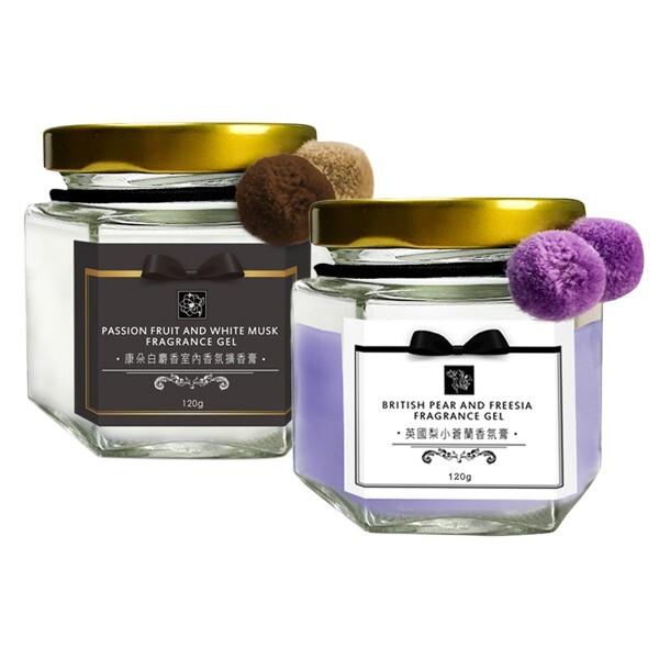 康朵 白麝香英國梨與小蒼蘭 室內香氛擴香膏(120g)  香氛/擴香/芳香劑