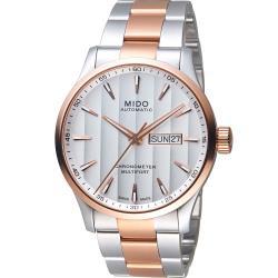 MIDO 美度 MULTIFORT先鋒80系列 天文台腕錶 半金 42mm M0384312203100