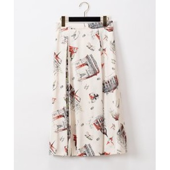 【GRACE CONTINENTAL:スカート】コンビプリントスカート
