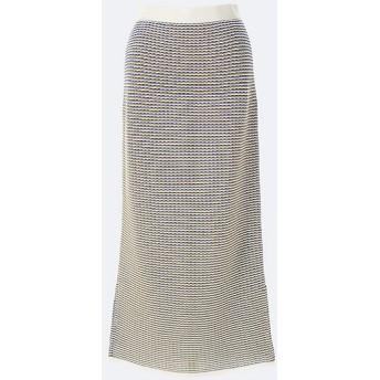 <08 sircus/08 sircus> Cotton border jacquard knit skirt 11-ivory【三越・伊勢丹/公式】