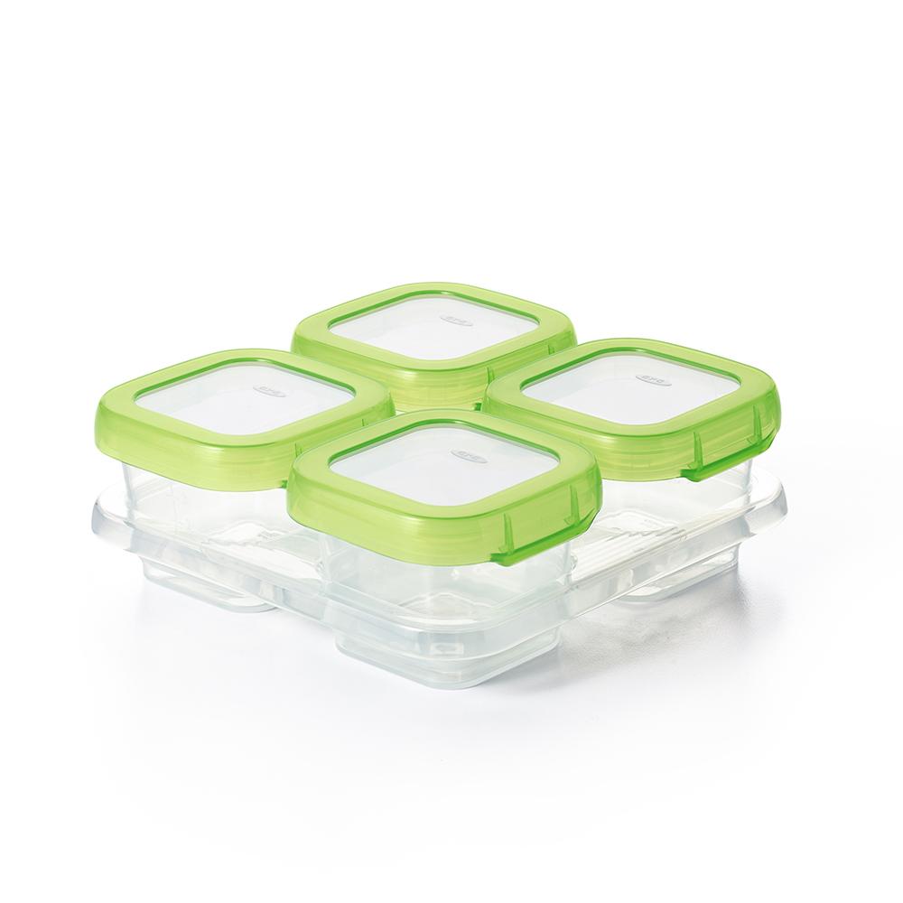 OXO tot 好滋味冷凍儲存盒(4oz)(青蘋綠)