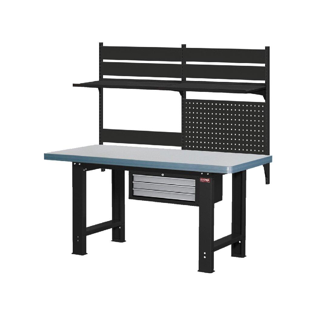 !需自行組裝!【樹德】 WB高荷重型工作桌 WHC6M + W4041 鐵桌 工作台 工廠 重型工業 工具桌 辦公桌 工作站