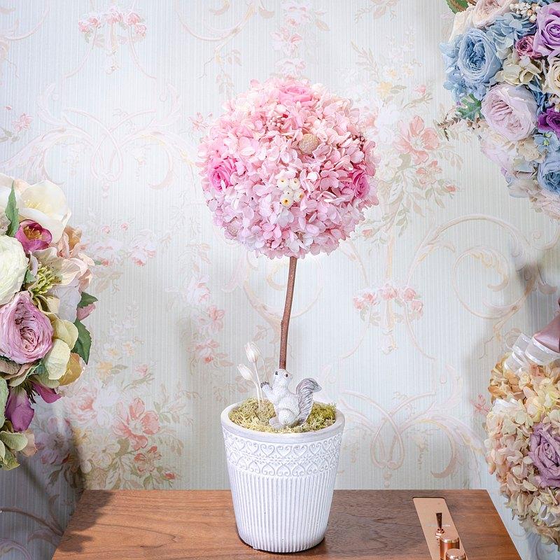 Topiary Art 浪漫永生花球樹 | 不凋玫瑰 七夕 情人節 婚禮